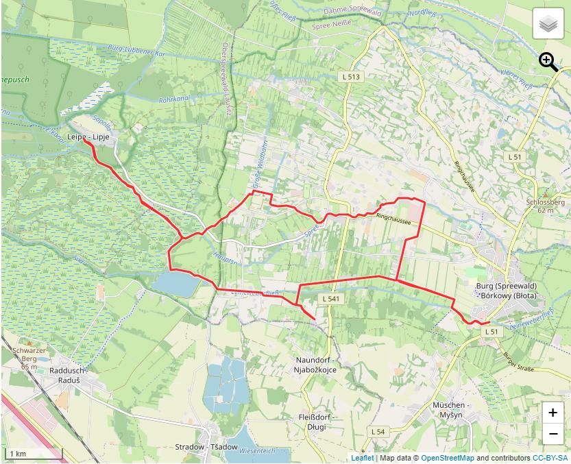 Tourverlauf der Tour Wellness und Schlemmen: Burg-Kolonie Leipe