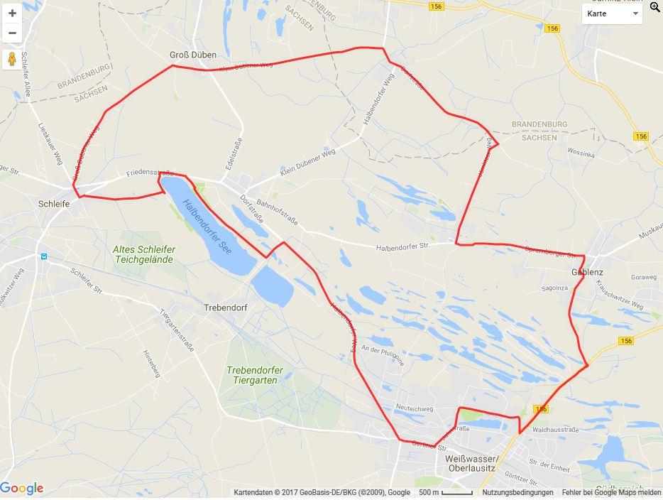 Tourverlauf der Tour Radtour durch die Oberlausitz: Badeseetour