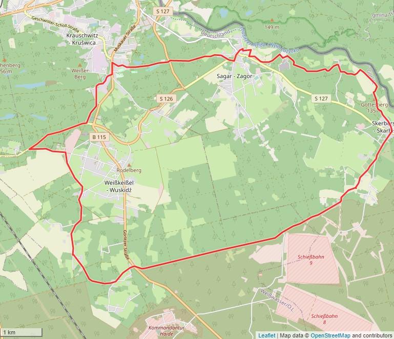 Tourverlauf der Tour Radtour durch die Oberlausitz: Graschinatour