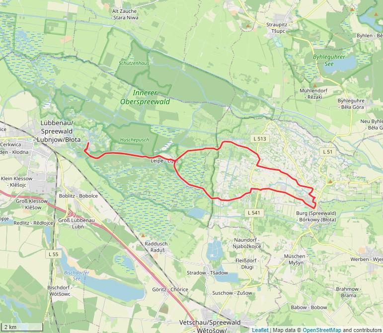 Tourverlauf der Tour Fahrradtour rund um Burg