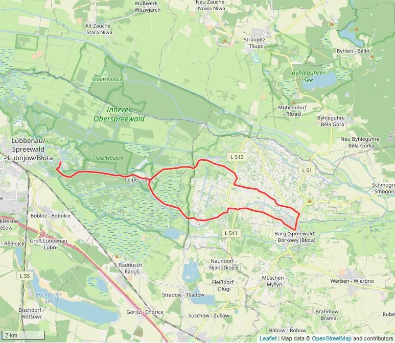 Tourverlauf der Tour Die Heuschobertour