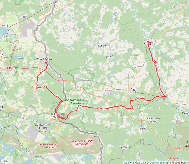 Tourverlauf der Tour Mit dem Fahrrad durch Parks und Kirchen