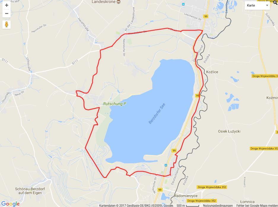 Tourverlauf der Tour Radtour durch die Oberlausitz: Rund um den Berzdorfer See