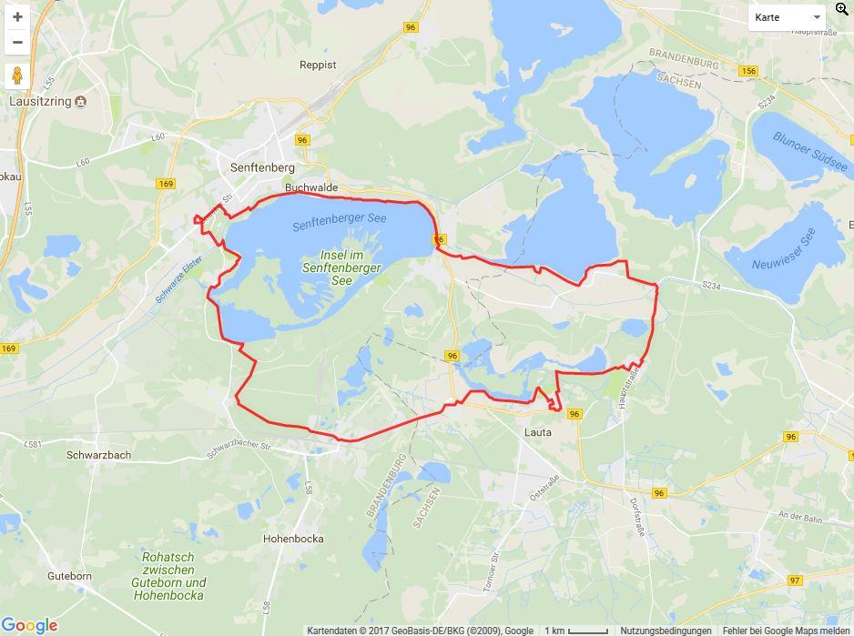 Tourverlauf der Tour Mit dem Fahrrad durch die Gartenstädte
