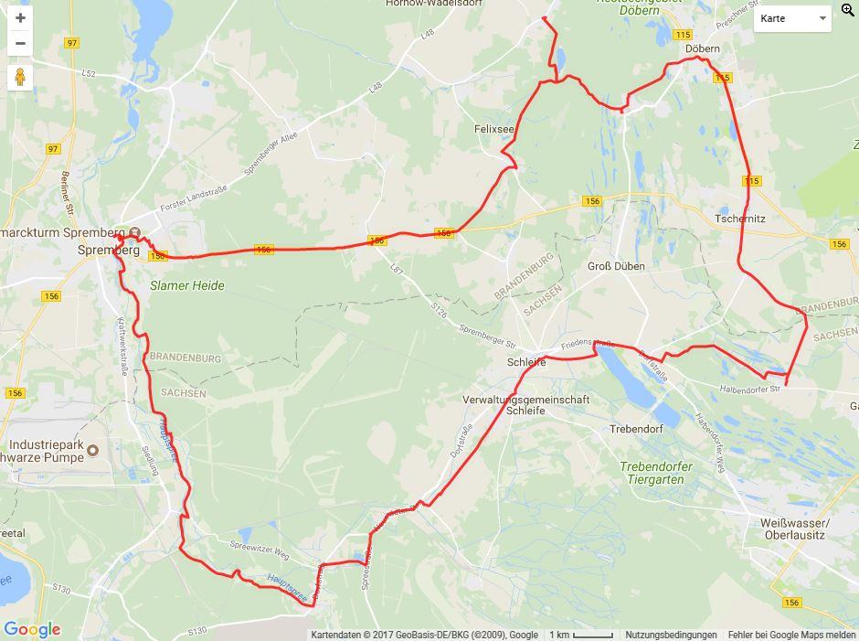 Tourverlauf der Tour Mit dem Rad vom Niederlausitzer Heidemuseum zum Kromlauer Park