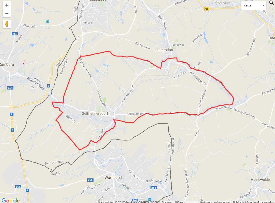 Tourverlauf der Tour Radtour durch die Oberlausitz: Karasek-Rundweg