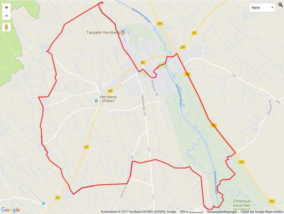 Tourverlauf der Tour Mit dem Fahrrad die Mitteldeutsche Kirchenstraße entdecken