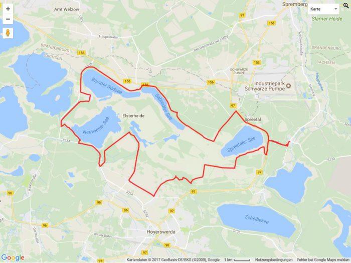 Radtour Lausitzer Seenland