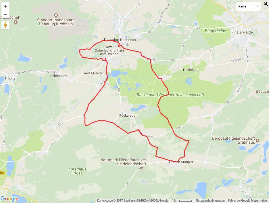 Tourverlauf der Tour Auf den Spuren der Mönche von Dobrilugk