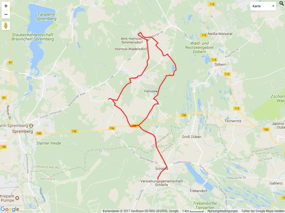 Tourverlauf der Tour Radtour: Sorbische Impressionen in Brandenburg und Sachsen