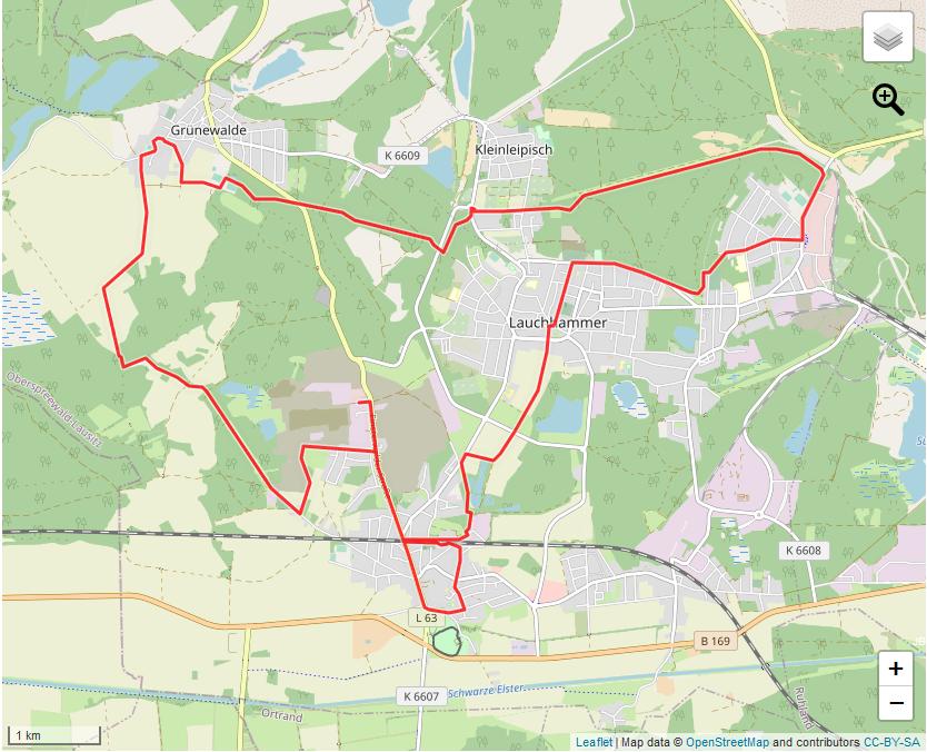 Tourverlauf der Tour Auf den Spuren der Freifrau von Löwendal