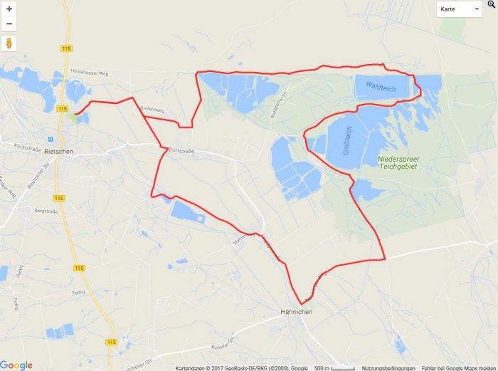 Radtour Erlichthof Seen