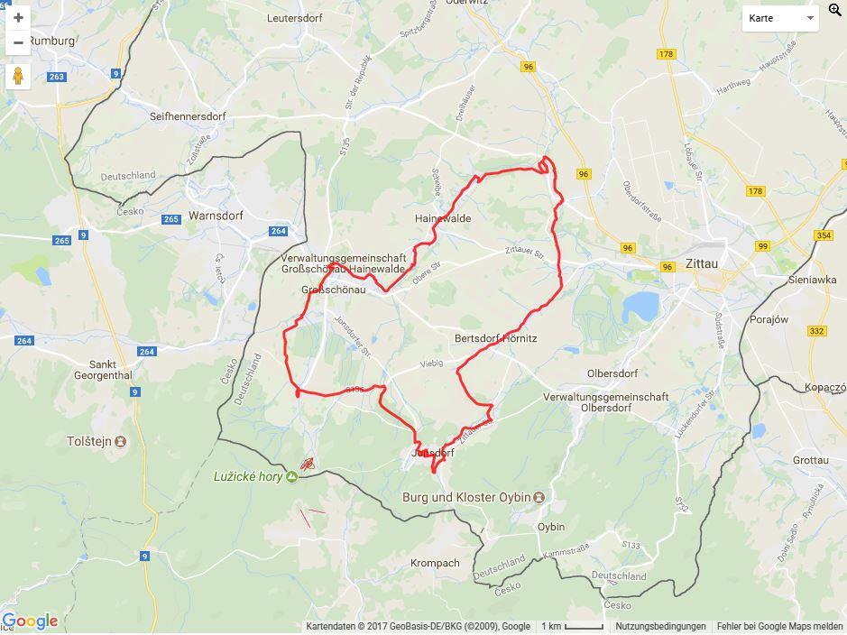 Tourverlauf der Tour Radtour durch die Oberlausitz: Umgebindehausradweg