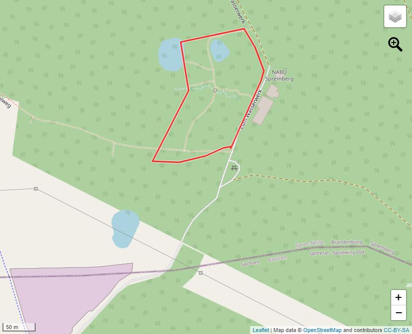 Tourverlauf der Tour Wanderweg durch den kleinen Naturpark Slamener Kuthen