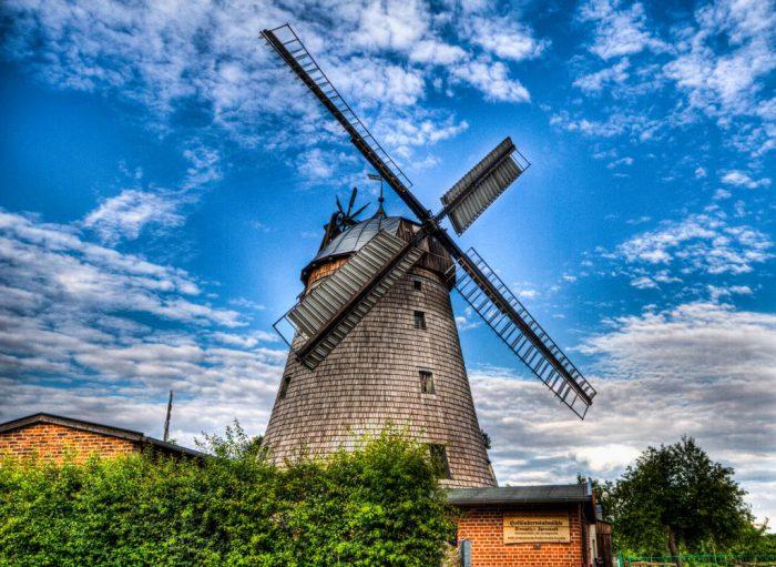 Holländerwindmühle in Strauptiz  | Foto: