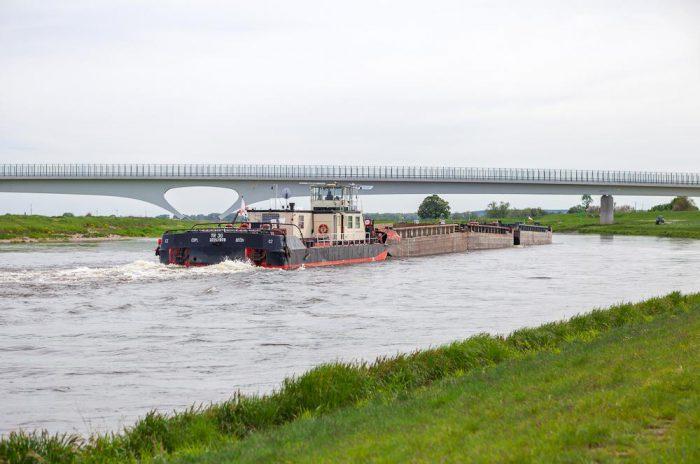 Schifffahrt auf der Elbe bei Mühlberg   Foto:  Elbe-Elster-Land