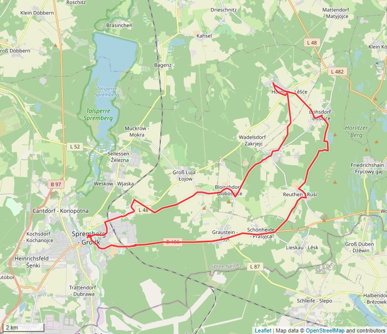 Tourverlauf der Tour Unterwegs im Land des Erwin Strittmatter