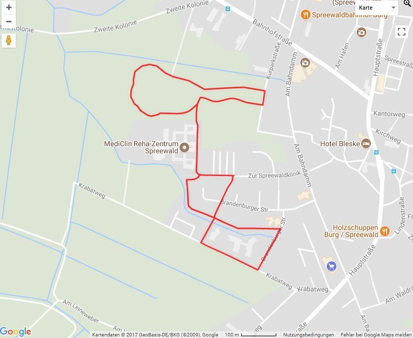 Tourverlauf der Tour Burg (Spreewald) zu Fuß erkunden