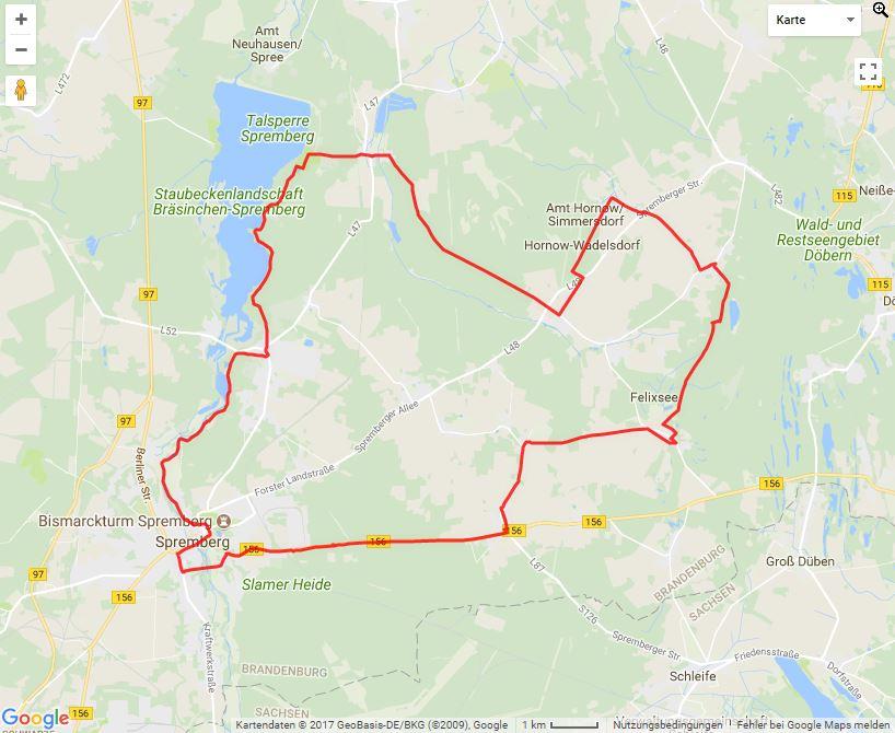 Tourverlauf der Tour Die Strittmatter-Tour mit dem Rad erleben