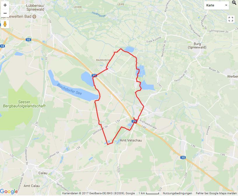 Tourverlauf der Tour Die Teichtour mit dem Fahrrad erleben