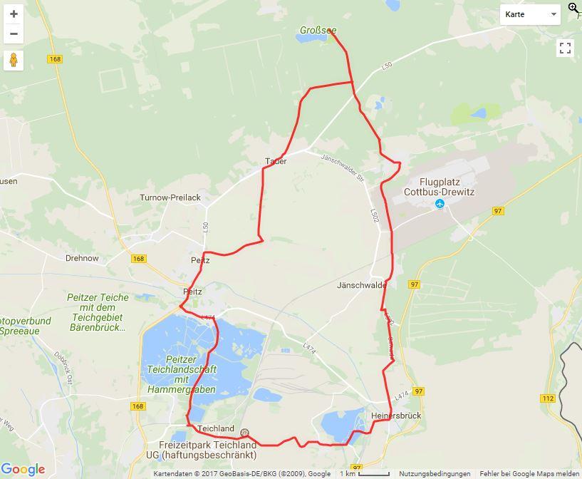 Tourverlauf der Tour Die große Lutki-Tour mit dem Fahrrad entdecken