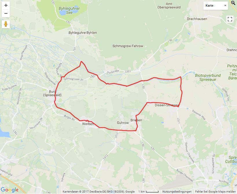 Tourverlauf der Tour Dissen mit dem Fahrrad entdecken