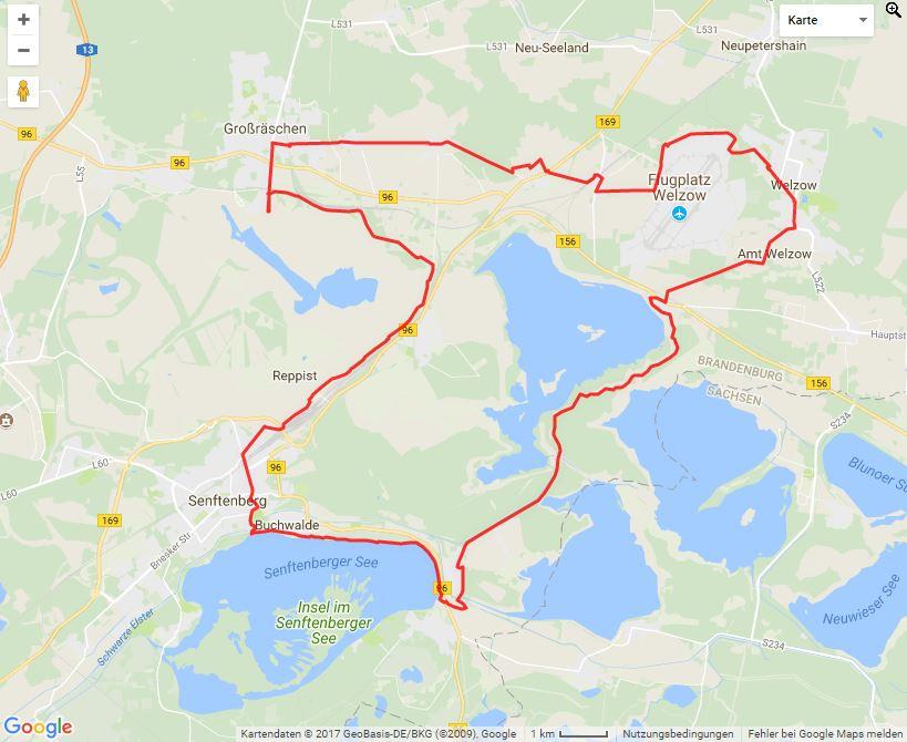 Tourverlauf der Tour Fahrradtour vom Bergmann zum Seemann