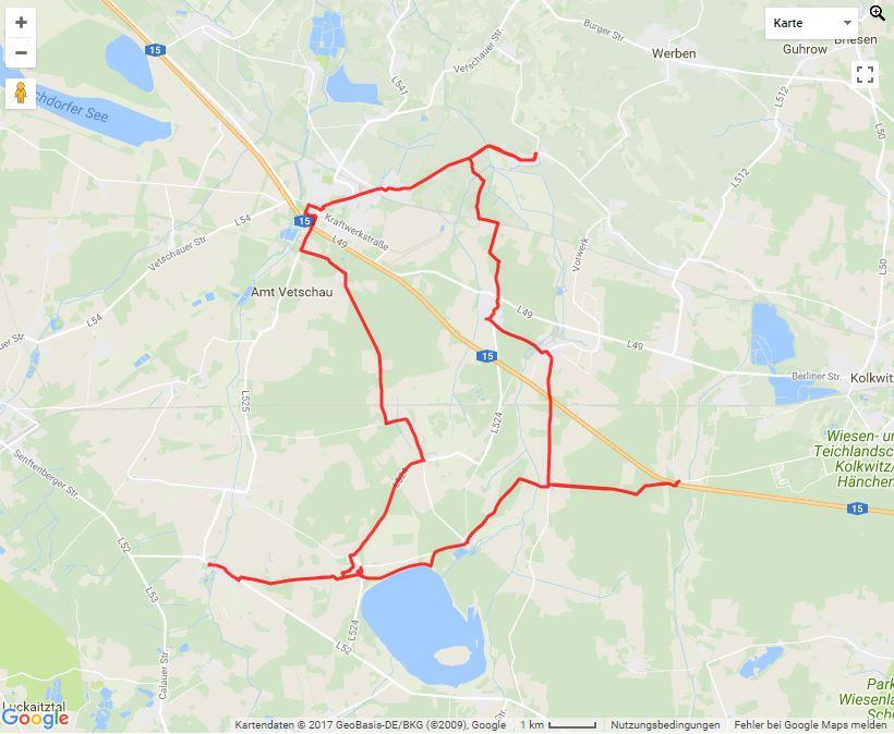 Tourverlauf der Tour Hofläden rund um Vetschau entdecken