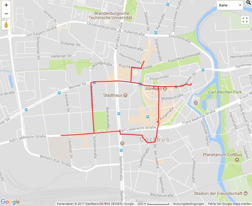 Tourverlauf der Tour Kulinarische Entdeckungsreise: Die Genießertour durch die Cottbuser Innenstadt