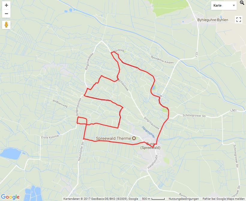 Tourverlauf der Tour Radtour zur Erdbeerzeit im Spreewald