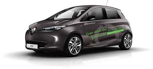 Fahrzeugvermietung Renault Zoe | Foto: Spreewald Energy