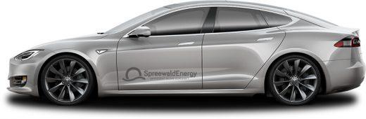Fahrzeugvermietung Tesla Model S | Foto: Spreewald Energy