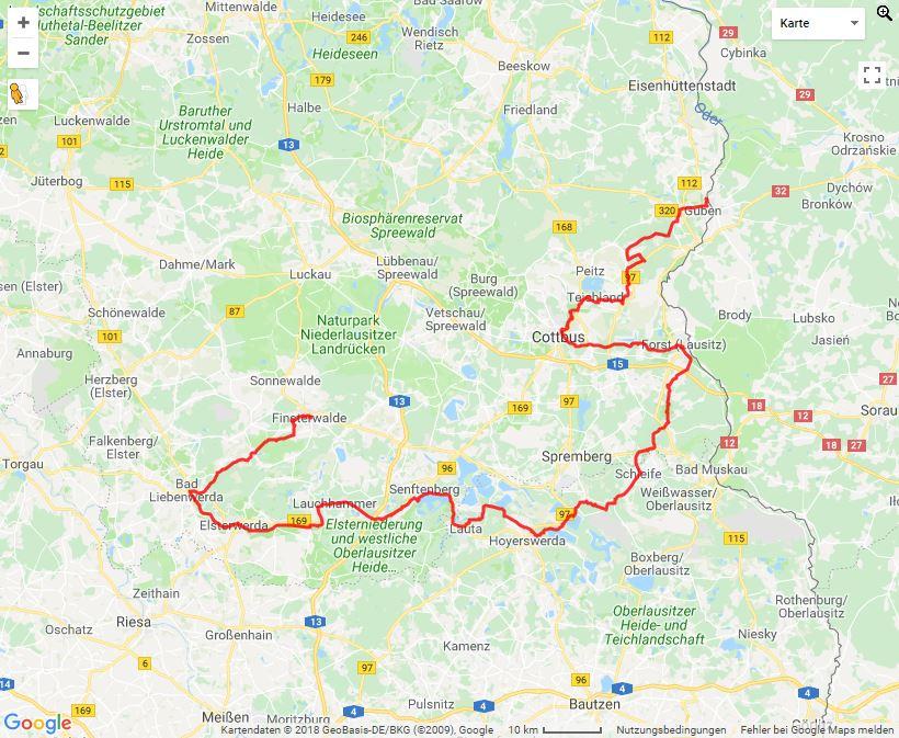 Tourverlauf der Tour