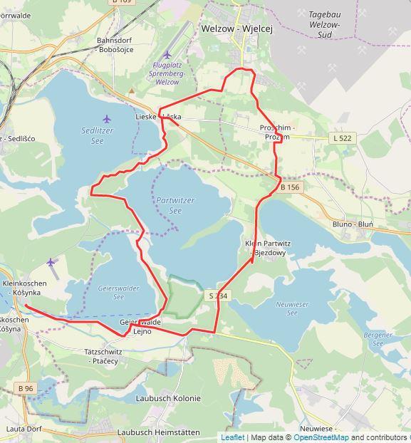 Tourverlauf der Tour 6. Tour: LR auf Tour: Hinter den Türen der Lausitz