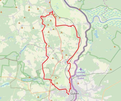 Tourverlauf der Tour 7. Tour: LR auf Tour:  Langer Ritt zum Kloster Neuzelle