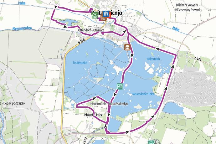 Tourverlauf der Tour Peitzer Karpfentour